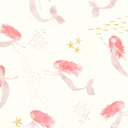 Custom Fabric - Whimsical Mermaids