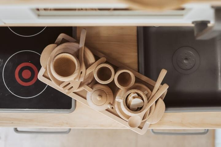 Wooden Tea Set 16 piece - Raw (IN STOCK)