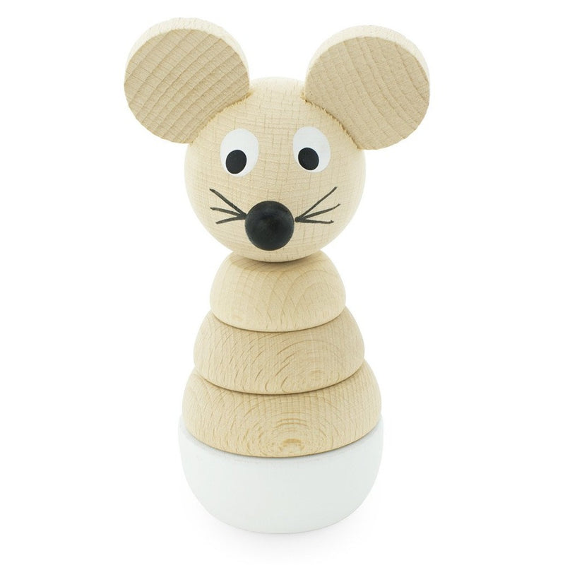 Wooden Stacking Puzzle Mouse - Hobbs