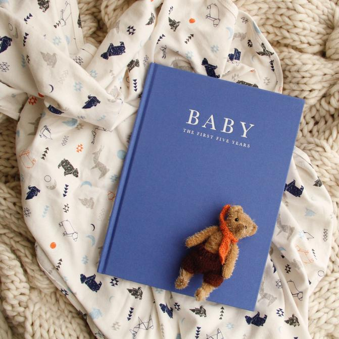 Baby Journal - Birth to 5 Years - Blue