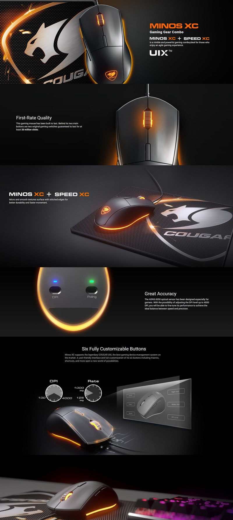 Cougar Gaming gear mouse and pad combo