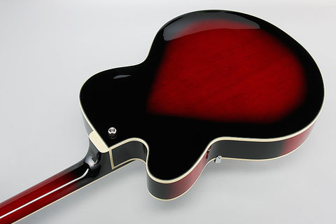 Ibanez Artcore AF75 TRS - Hollowbody - Transparent Red Sunburst