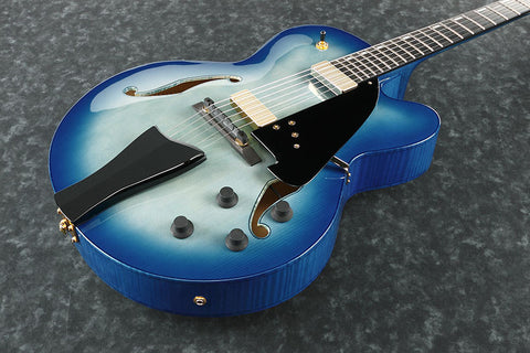 Ibanez Contemporary Archtop AFC155 JBB - Hollowbody w/Case - Jet Blue Burst Finish