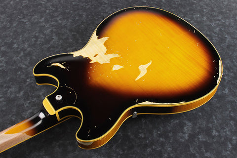Ibanez Artstar Vintage ASV100FMD YSL - Relic Semi-hollowbody w/Case - Yellow Sunburst Low Gloss