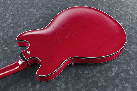 Ibanez Artcore Vintage ASV10A TRL - Relic Semi-hollowbody - Transparent Cherry Red Low Gloss