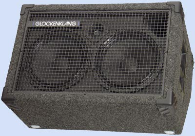 "Glockenklang Cab: Duo Wedge Light Neo 2x10"" Bass Cabinet - 400w (Neodymium Version)"