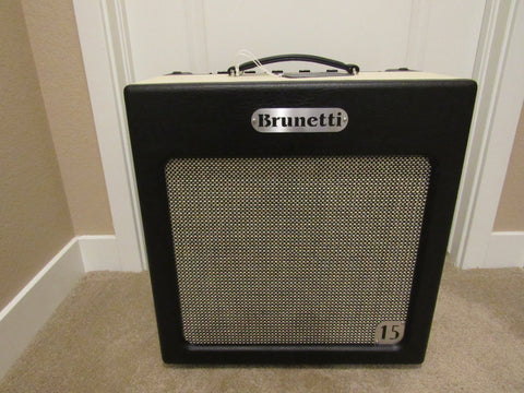 Brunetti Amp Combo: Singleman 15 - 15w 6V6 Class A Combo Amp w/Reverb