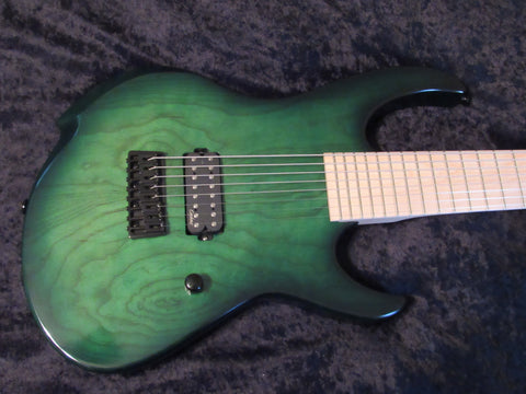 Agile Intrepid 828 (8-string) - Green Burst - Ash Body - Case Included