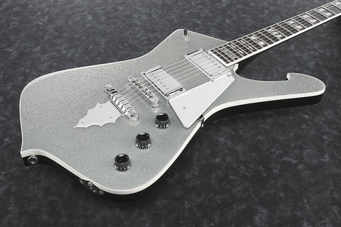 Ibanez Signature - Paul Stanley (KISS) PS120SP SSP - Silver Sparkle Finish