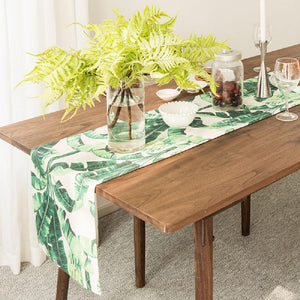 Green Banana Leaves Table Runner