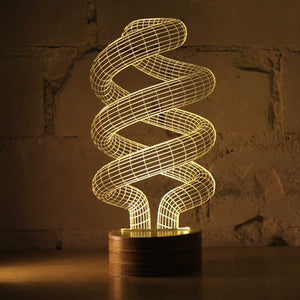 Spiral Bulbing Optical Illusion LED Lamp (##)