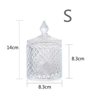 Nordic crystal glass storage tank (##)