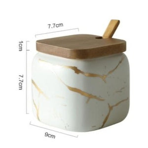 Marble Pattern Ceramic Spice Jars (##)