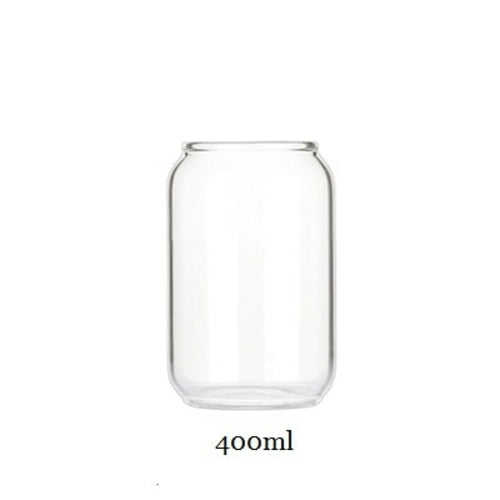 Can Shaped Transparent Glass Jar (##)