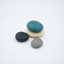 Load image into Gallery viewer, 4 Handmade Big Pebble Soaps with Porcelain Soap Dish Set