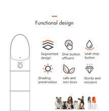 Load image into Gallery viewer, XIAOMI Portable Dog Water Bottle