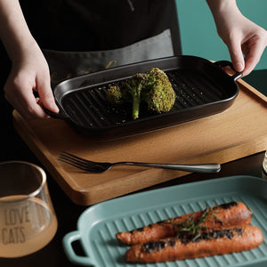 Nordic Matt Glazed Ceramic Baking Plate