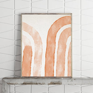 Abstract Modern Geometric Orange Painting