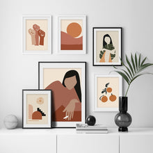 Load image into Gallery viewer, Feminist Abstract Vintage Scandinavian Wall Art