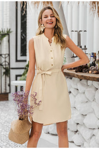 Sleeveless women spring dress