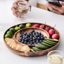 Load image into Gallery viewer, Wooden Plate for Snacks, Fruits, Candy and Appetizers