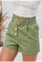 Load image into Gallery viewer, Casual Green Women Summer Shorts
