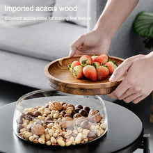 Load image into Gallery viewer, Double Layer Snack Storage with Wooden Lid