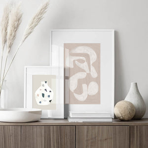 Geometric Boho Style Wall Art in Pastel Colors