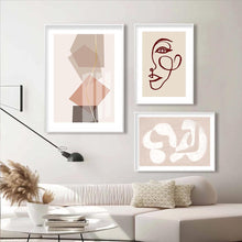 Load image into Gallery viewer, Geometric Boho Style Wall Art in Pastel Colors