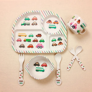 Kids Bamboo Dinner Set