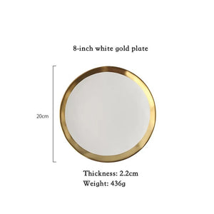 European Gold Side Ceramic Plate