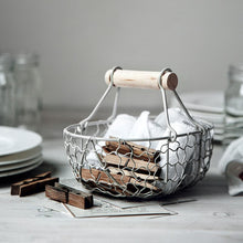 Load image into Gallery viewer, Vintage Wrought Iron Storage Basket Kitchen Fruit Bread Basket (##)