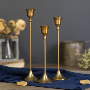 Retro Bronze Candle Holders (##)