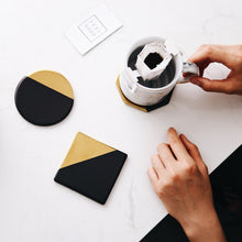 Load image into Gallery viewer, Black and Gold Ceramic Cup Pads