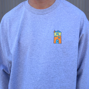 Long Sleeve-Top of Mason-Grey