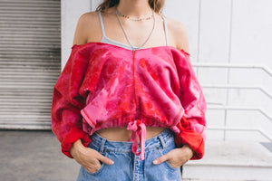 Pink Cloudless Crop Top