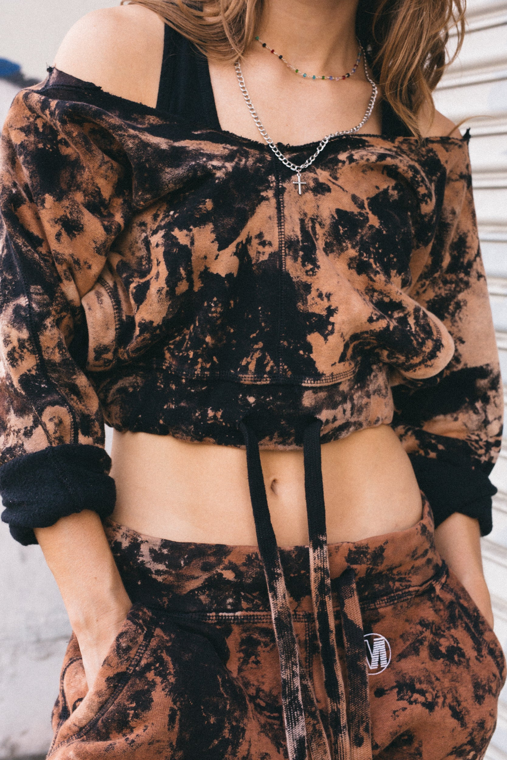 Black Star Dust Crop Top