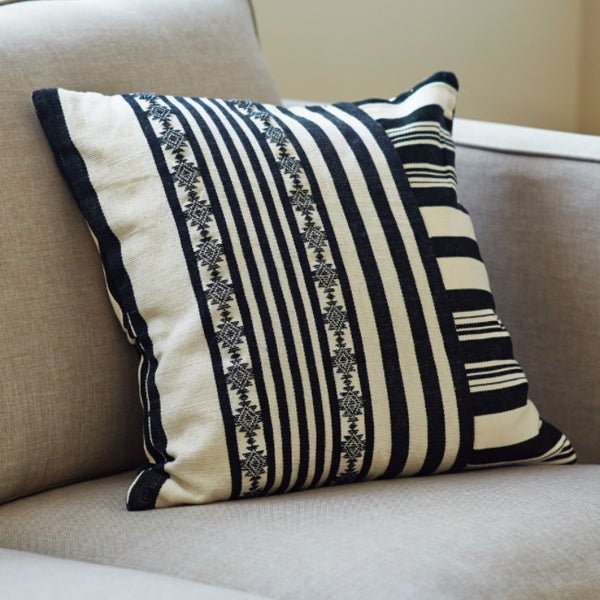 Black And White Striped Square Pillow Cover Artisan Connect