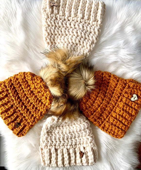 Ginger Snaps Crochet - Child Pom Toque