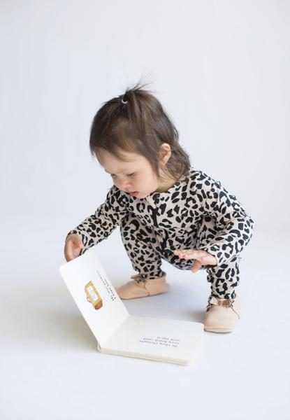 Tiny Button Apparel - Baby Zip Up Romper - Leopard