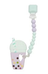 Loulou LOLLIPOP -  Taro Bubble Tea Teether Set Gem - Lilac Mint