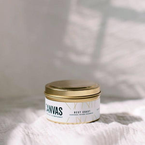 Canvas Candle Company - Gold Travel Tin