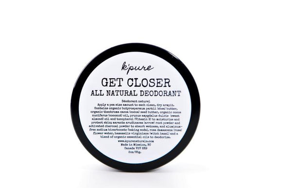 K'pure Naturals - Get Closer All Natural Deodorant