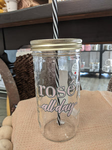 Mason Jar Merchant - Cup With Straw