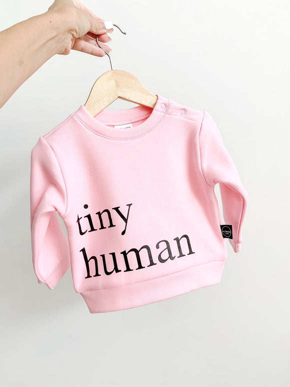 Plumkids Labels -  Tiny Humans Fleece Sweater - Bubblegum