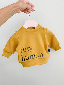 Plumkids Labels -  Tiny Humans Fleece Sweater - Pumpkin Spice
