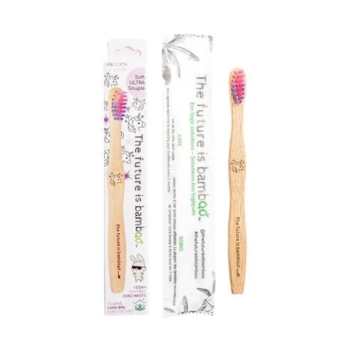 The Future Is Bamboo - Kids Bamboo Unicorn Toothbrush