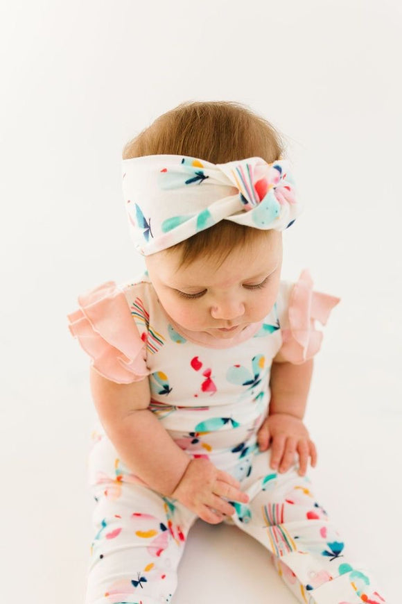 Loulou Lollipop Knotted Headband - Butterfly