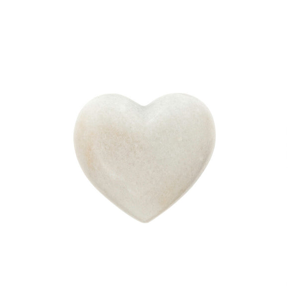Town & Country - Large White Marble Heart