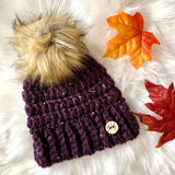 Ginger Snaps Crochet - Adult Pom Toque